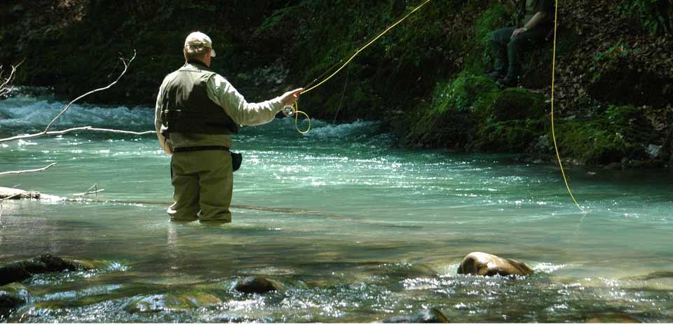 Servizi di ricreazione su Kama con pesca